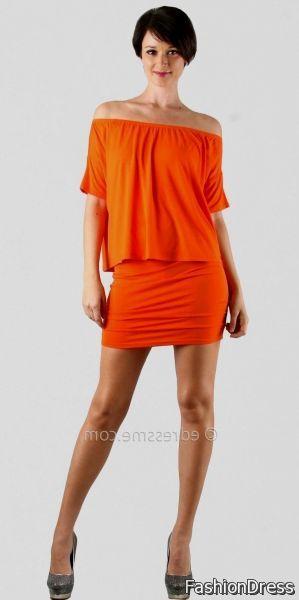 Orange Casual Dresses