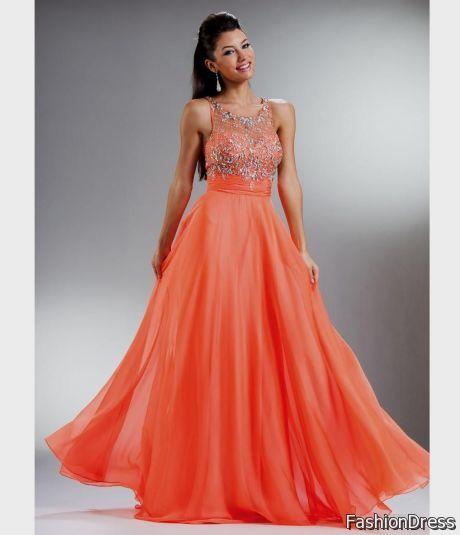orange prom dress 2017-2018