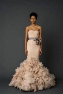 pale pink wedding dress vera wang 2017-2018