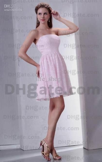 pastel pink lace prom dresses 2017-2018