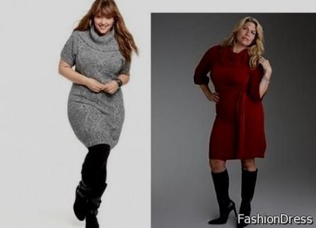 plus size sweater dresses with boots 2017-2018