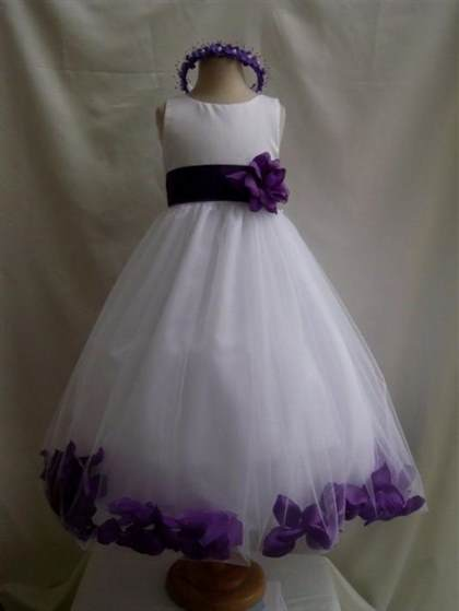 purple and silver flower girl dresses 2017-2018