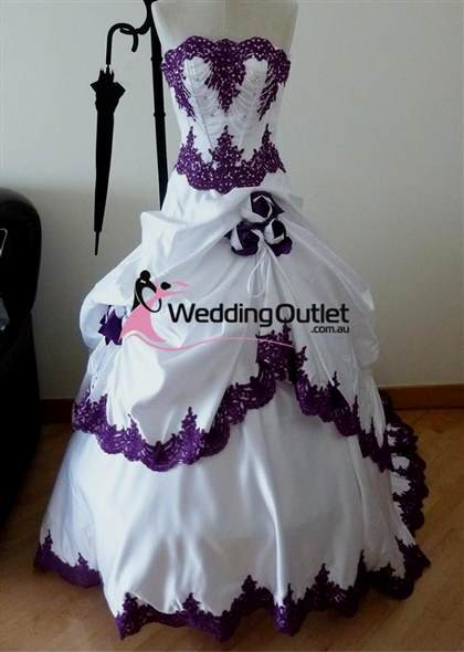 purple and white wedding dress 2017-2018