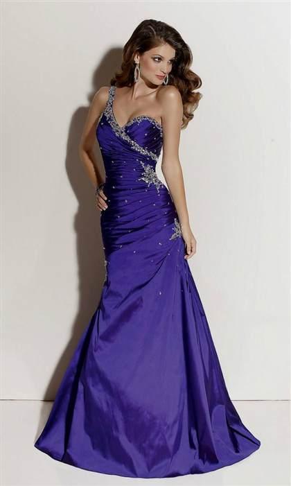 purple prom dress one shoulder 2017-2018
