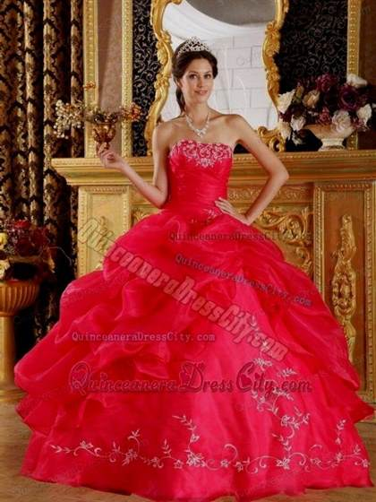 quinceanera dresses color red 2017-2018