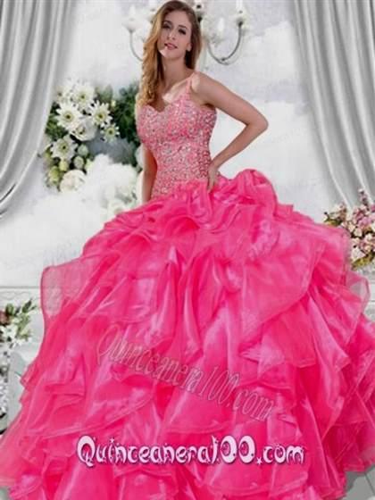 quinceanera dresses hot pink 2017-2018