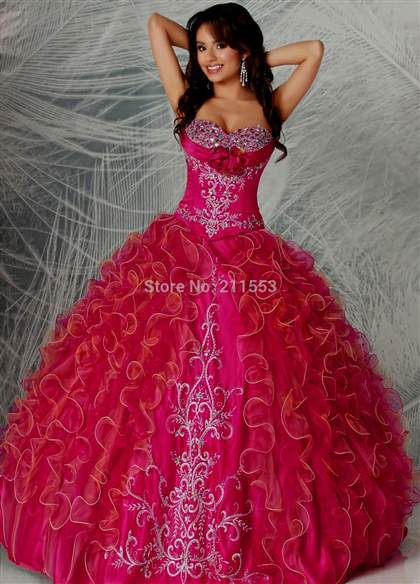 quinceanera dresses hot pink 2017-2018