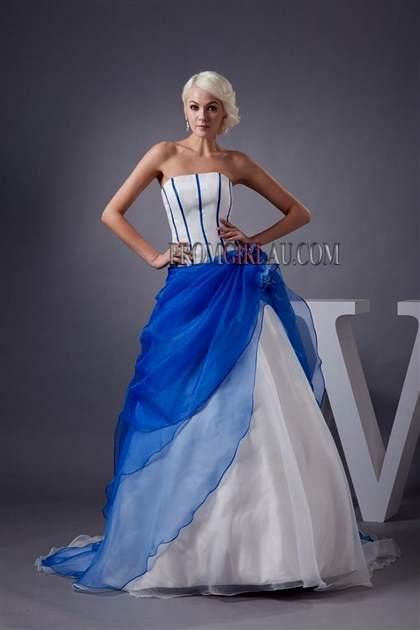 Royal Blue And White Wedding Dresses 2018 B2b Fashion