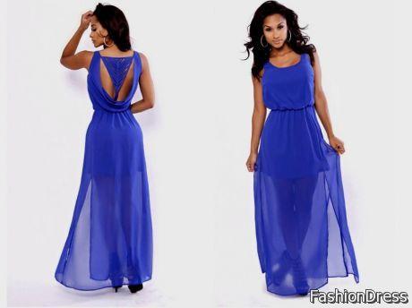 Royal Blue Casual Maxi Dress 2017 2018 B2b Fashion