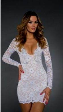 sexy short white lace dresses 2018