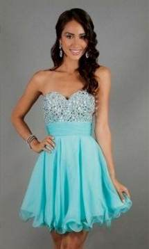 short aqua dresses for juniors 2018