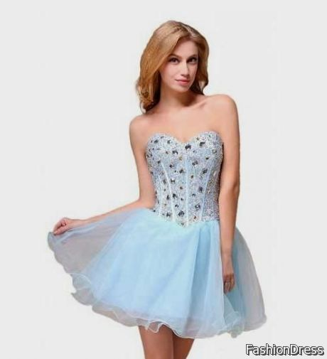 short blue formal dresses for juniors 2017-2018