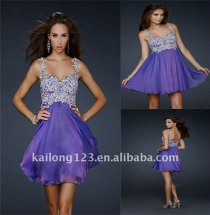 short purple formal dresses with straps 2017-2018