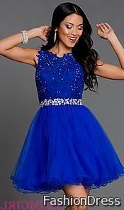 short royal blue lace dresses 2017-2018