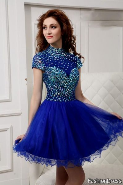 short royal blue prom dress 2017-2018