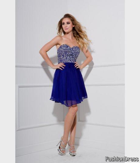 Blue Short Prom Dresses 2018