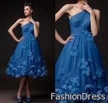 short royal blue prom dress 2017-2018