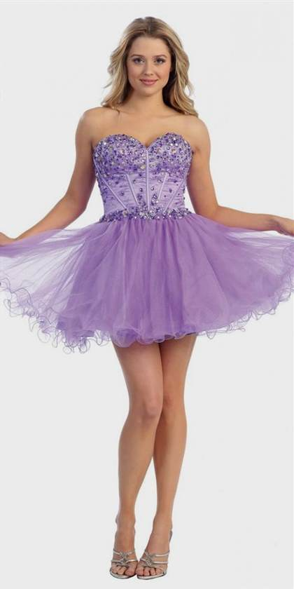 short sparkly purple prom dresses 2018