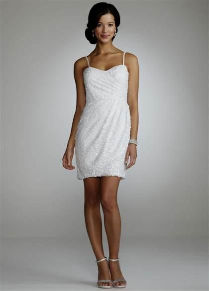 Short White Sequin Wedding Dress 2018