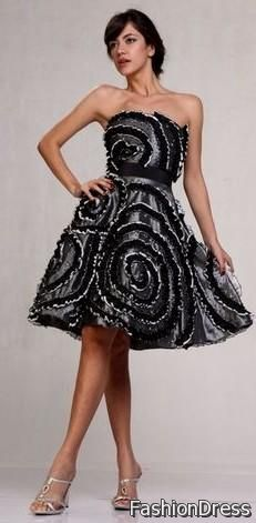 silver and black cocktail dress 2017-2018