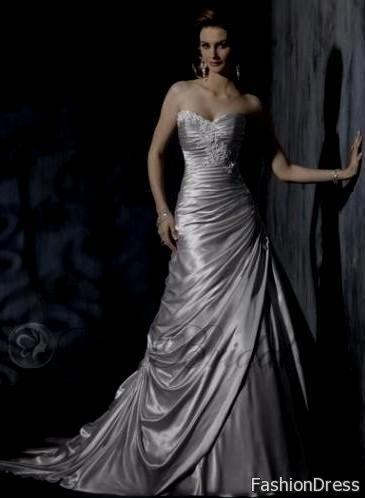 Silver Bridesmaid Dresses Plus Size 2017 2018 B2b Fashion