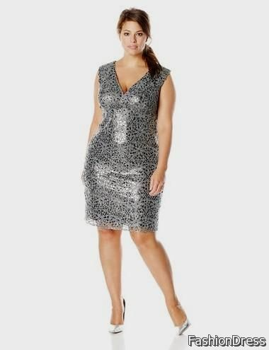silver cocktail dress plus size 2017-2018