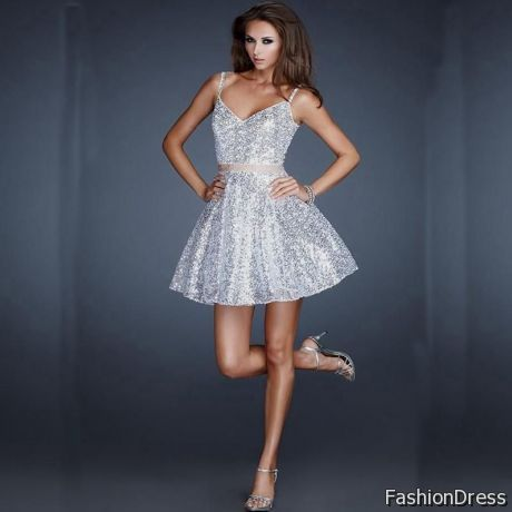 silver homecoming dress 2017-2018
