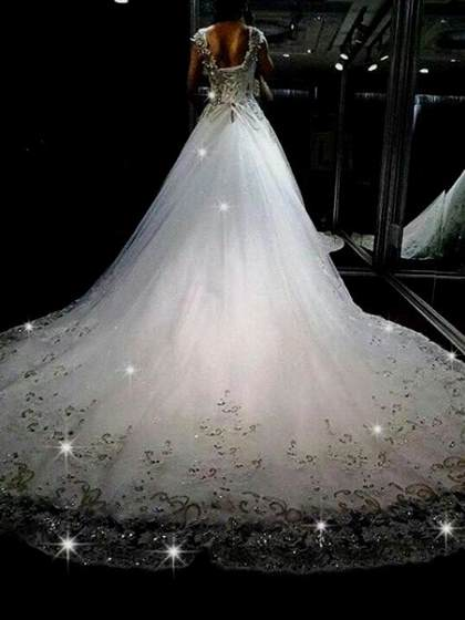 Sparkly Poofy Wedding Dresses 2017 2018 B2b Fashion