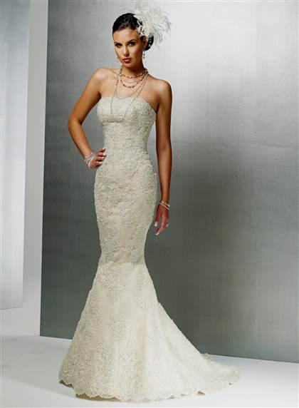 Strapless Lace Mermaid Wedding Dresses