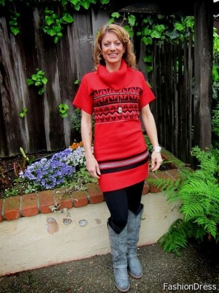 sweater dresses with cowboy boots 2017-2018