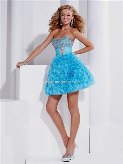 turquoise prom dresses short 2018