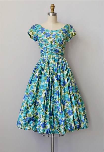 vintage dresses 1950s blue 2017-2018