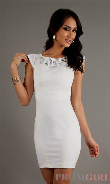 white fitted dresses 2018