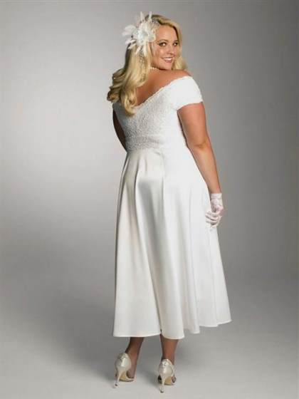 white lace dress with sleeves plus size 2017-2018