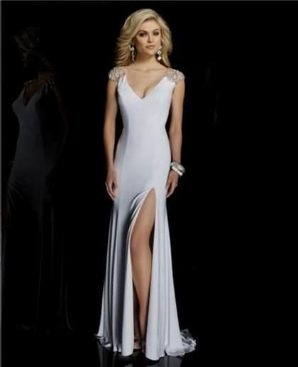 white long sleeve prom dress 2017-2018