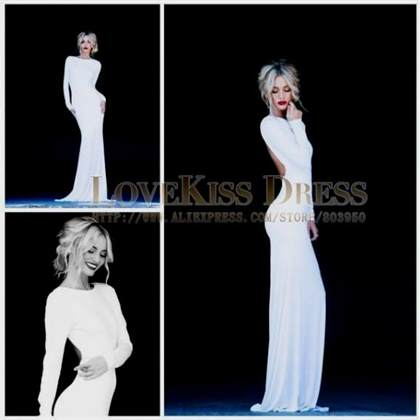 white long sleeve prom dress 2017-2018