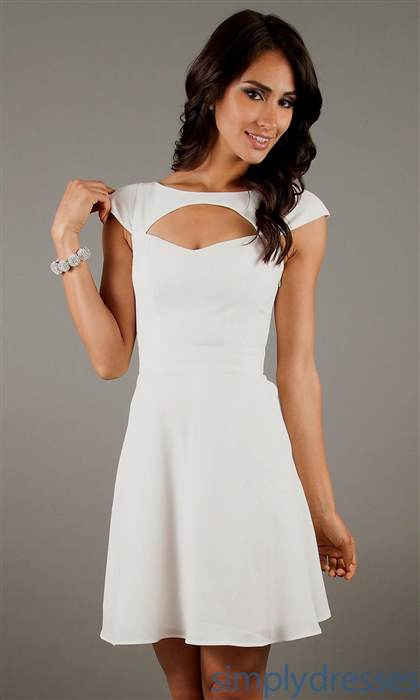 white short dress casual 2017-2018