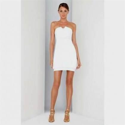 white strapless cocktail dress 2018