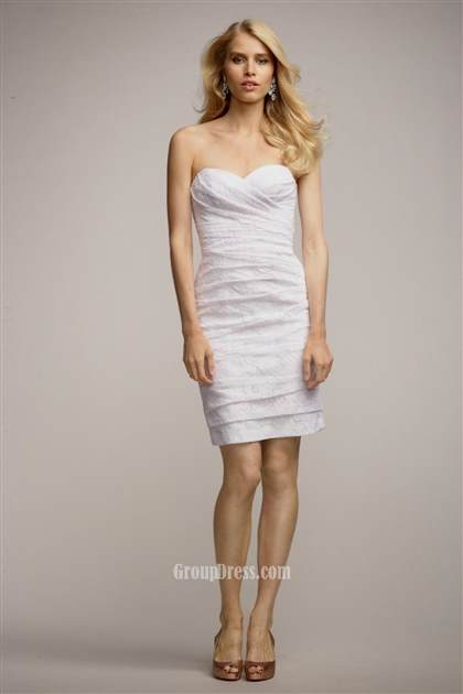 white strapless cocktail dress 2018
