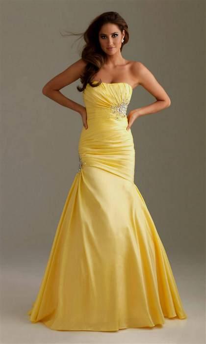 yellow mermaid dresses 2017-2018