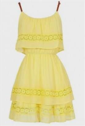 yellow sundress for juniors 2017-2018