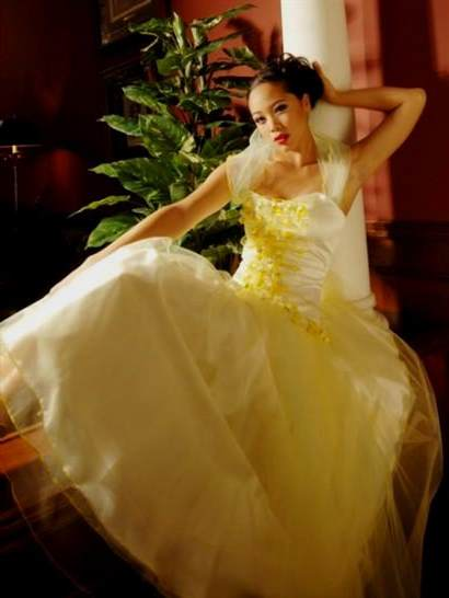 yellow wedding dress 2017-2018