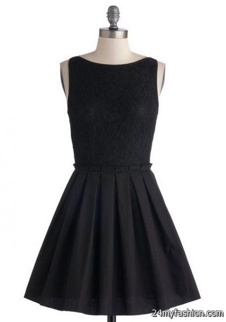 Black pleated dress 2018-2019