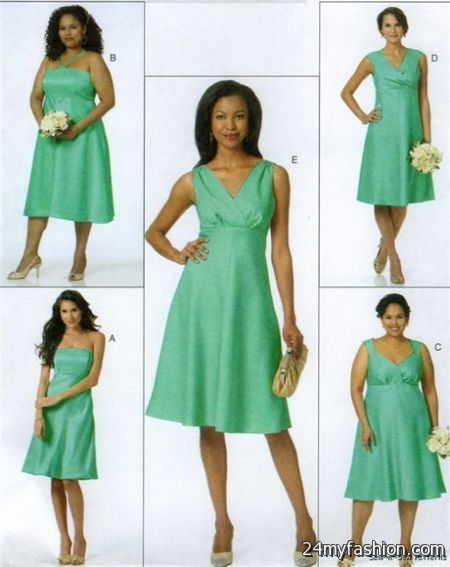 Bridesmaid dress sewing patterns 2018-2019 | B2B Fashion