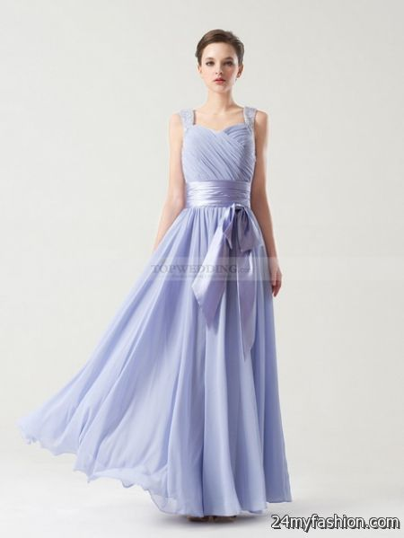 Bridesmaid dresses with straps 2018-2019