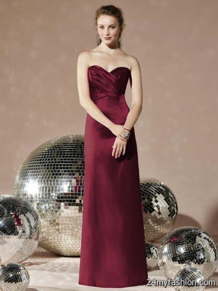 Burgundy bridesmaid dress 2018-2019