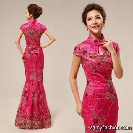Chinese evening dresses 2018-2019