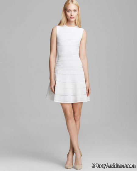 Classic white dress 2018-2019