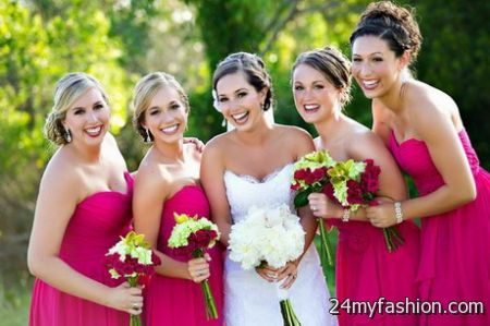 Colours for bridesmaid dresses 2018-2019
