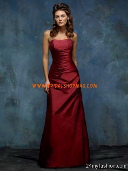 Dark red bridesmaid dresses 2018-2019